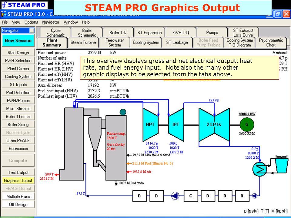 STEAM PRO Graphics Output