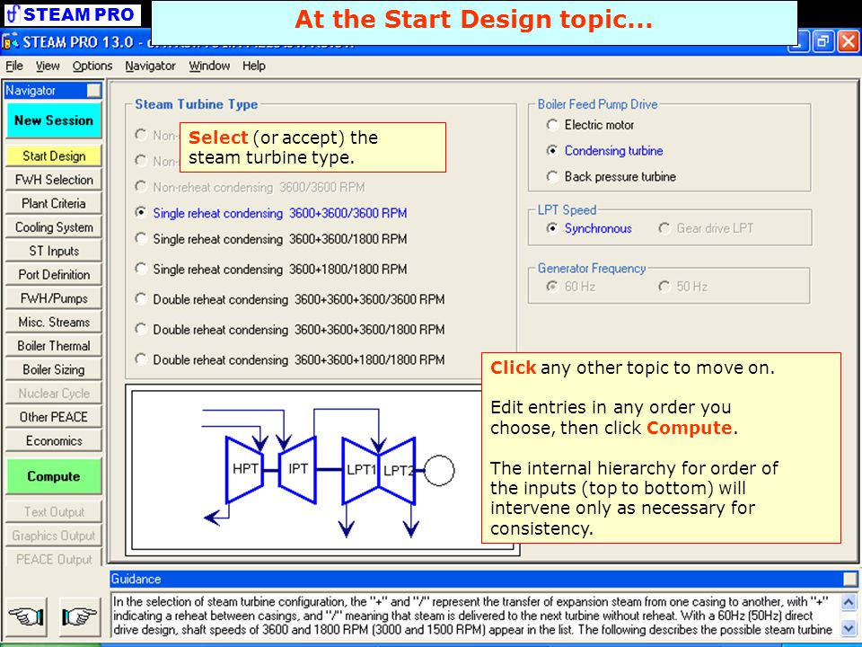 At the Start Design topic...