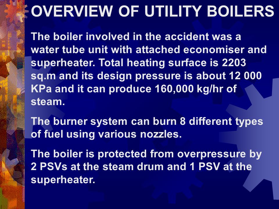 OVERVIEW OF UTILITY BOILERS