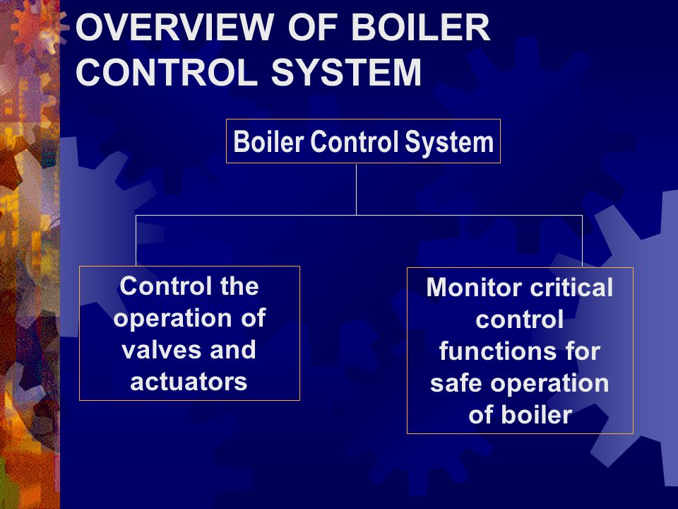OVERVIEW OF BOILER CONTROL SYSTEM