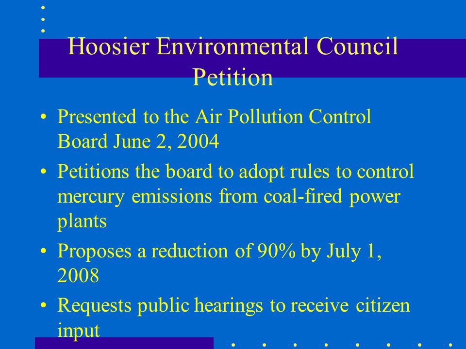 Hoosier Environmental Council Petition