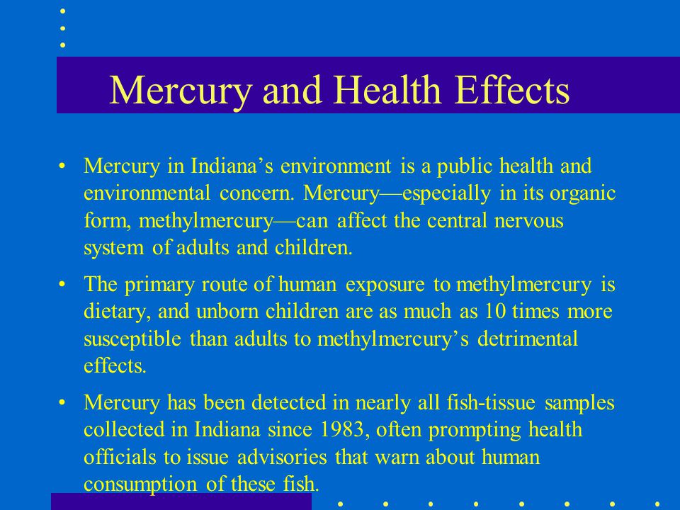 Mercury and Health Effects