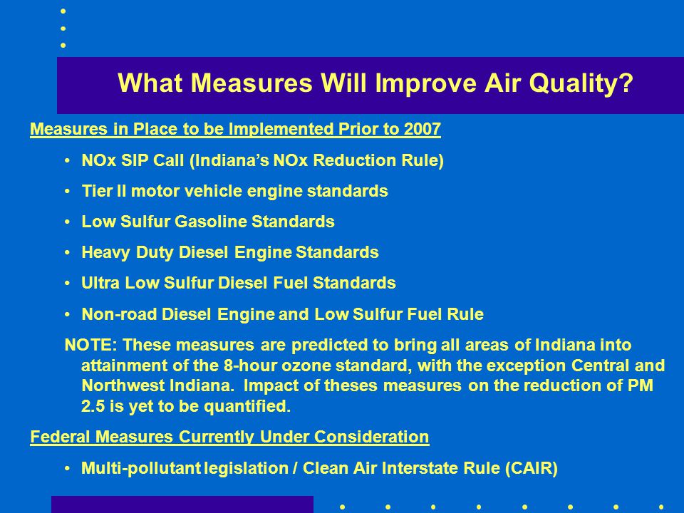 What Measures Will Improve Air Quality
