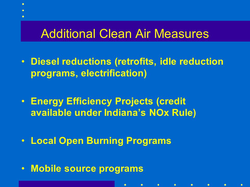 Additional Clean Air Measures