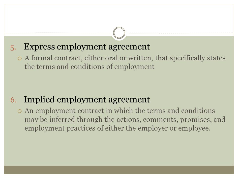 Express employment agreement