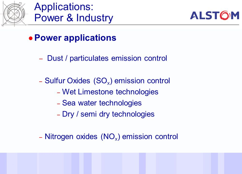 Applications: Power & Industry Power applications