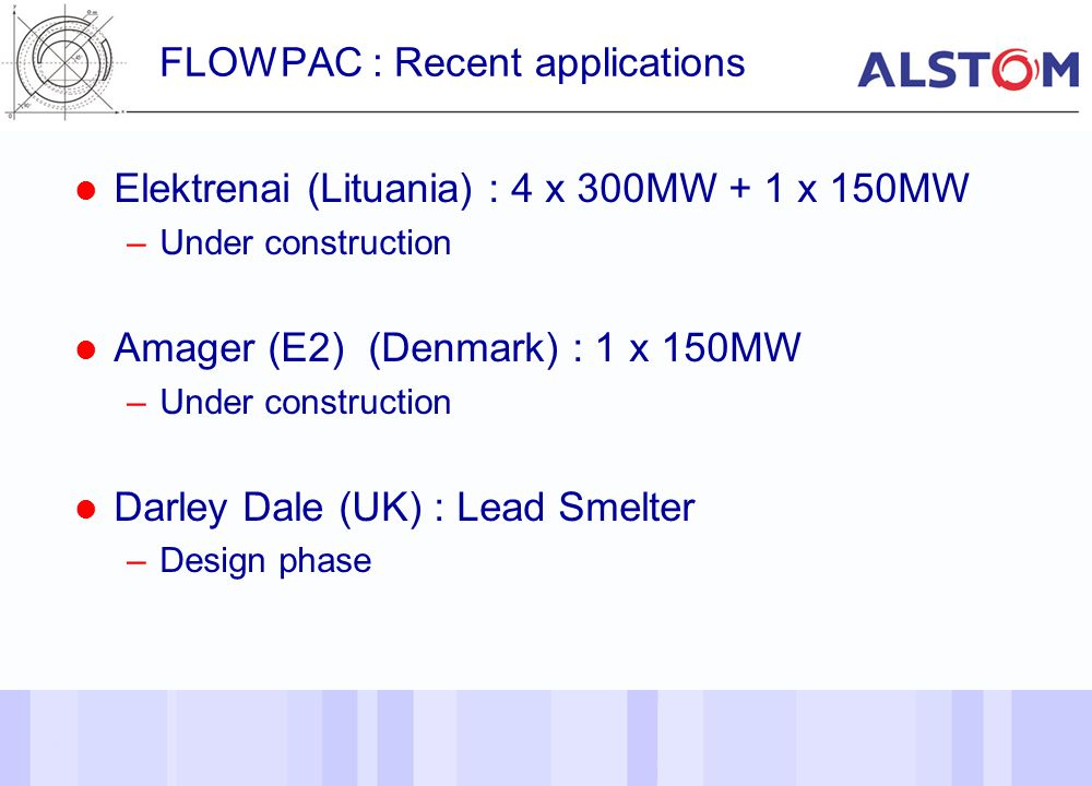 FLOWPAC : Recent applications