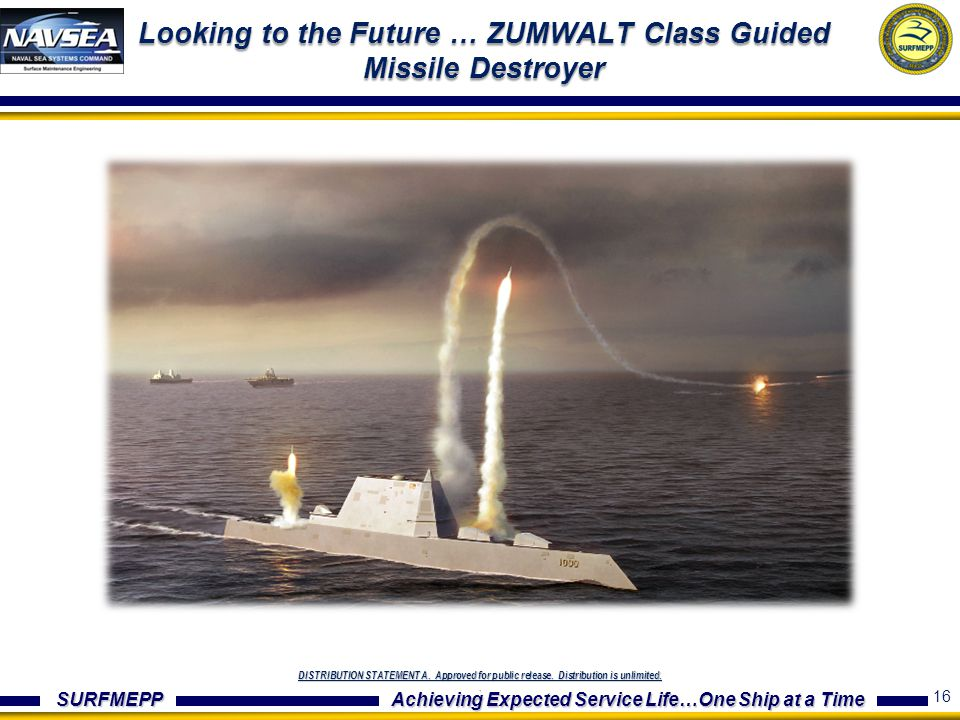 Looking to the Future … ZUMWALT Class Guided Missile Destroyer