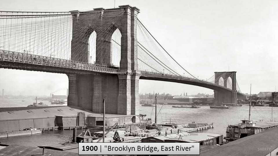 1900 | Brooklyn Bridge, East River