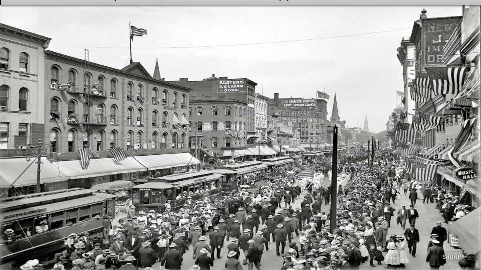 1900 | Buffalo, New York. Labor Day parade, Main Street