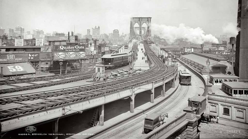 1903 | New York. Brooklyn Terminal at Brooklyn Bridge