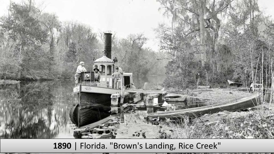 1890 | Florida. Brown s Landing, Rice Creek