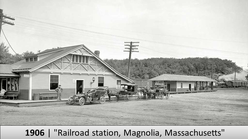 1906 | Railroad station, Magnolia, Massachusetts
