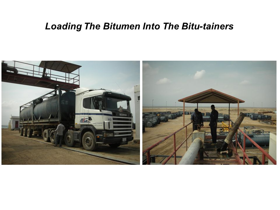 Loading The Bitumen Into The Bitu-tainers