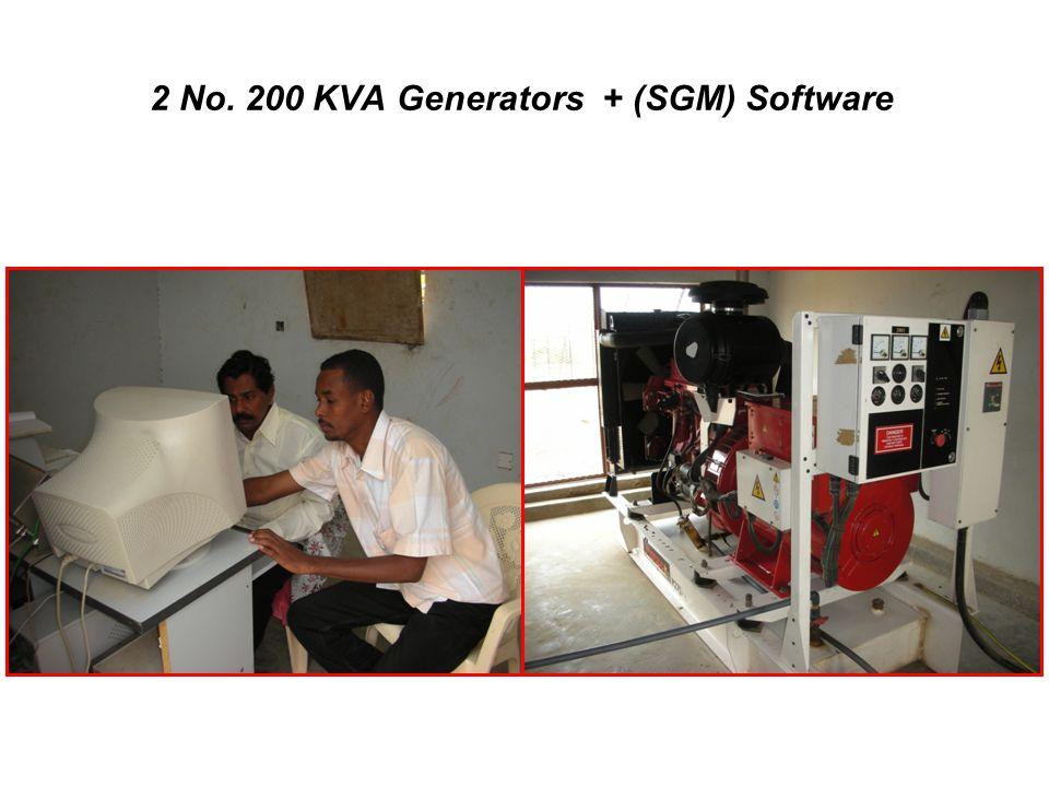 2 No. 200 KVA Generators + (SGM) Software
