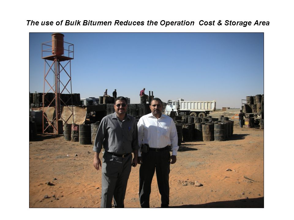 The use of Bulk Bitumen Reduces the Operation Cost & Storage Area