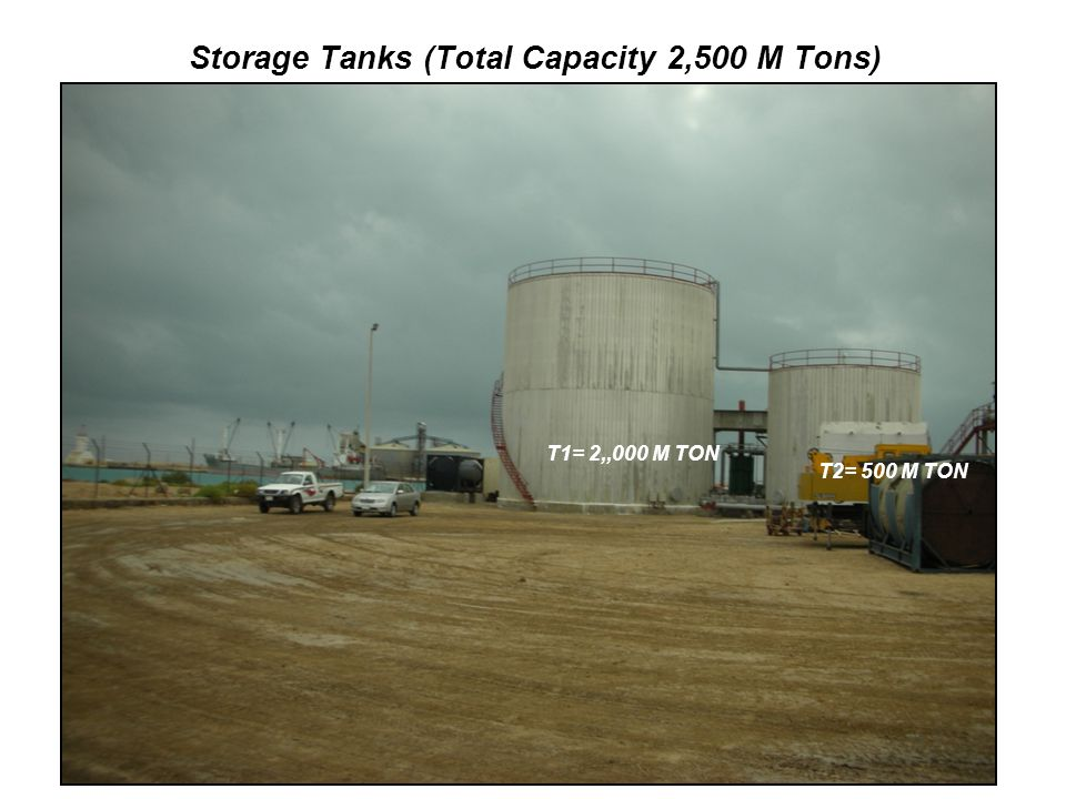 Storage Tanks (Total Capacity 2,500 M Tons)