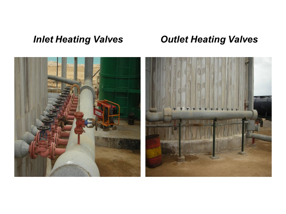 Inlet Heating Valves Outlet Heating Valves
