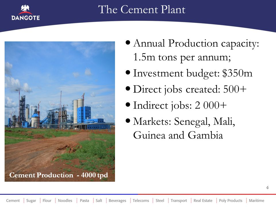 Cement Production - 4000 tpd