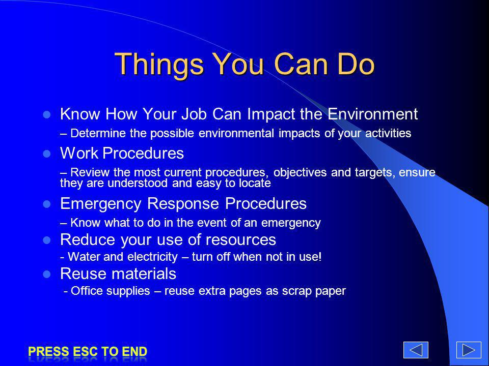 Things You Can Do Know How Your Job Can Impact the Environment