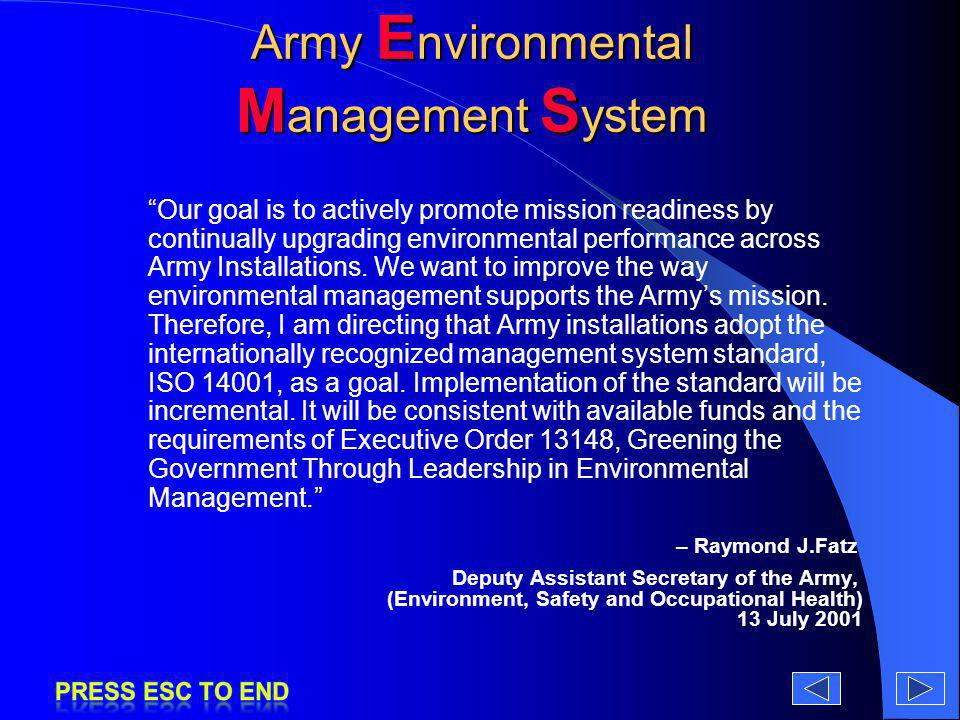 Army Environmental Management System