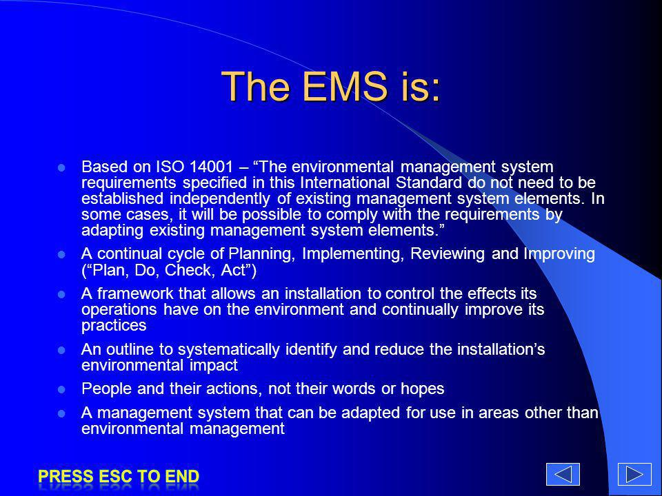 The EMS is: