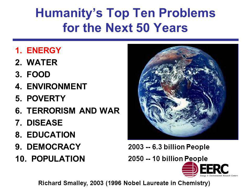 Humanity's Top Ten Problems for the Next 50 Years