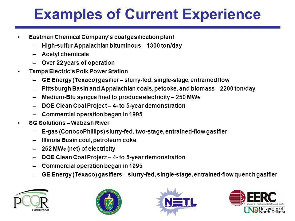 Examples of Current Experience