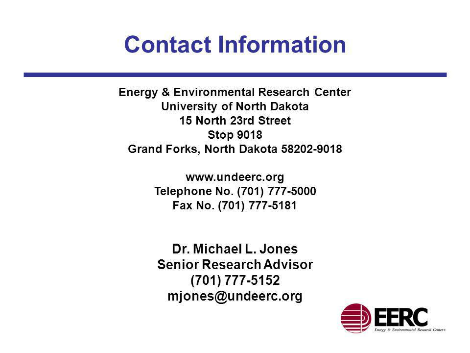 Contact Information Energy & Environmental Research Center. University of North Dakota. 15 North 23rd Street.