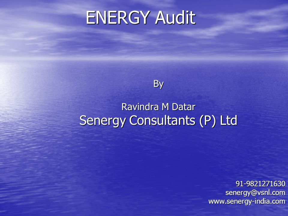 Senergy Consultants (P) Ltd