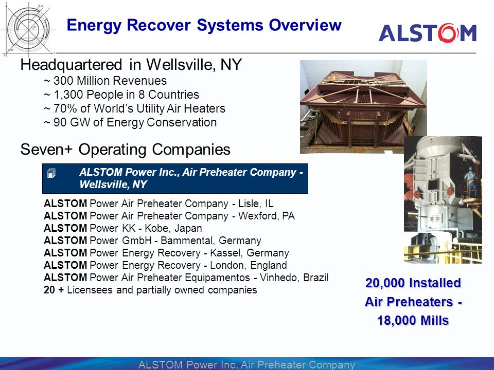 Energy Recover Systems Overview