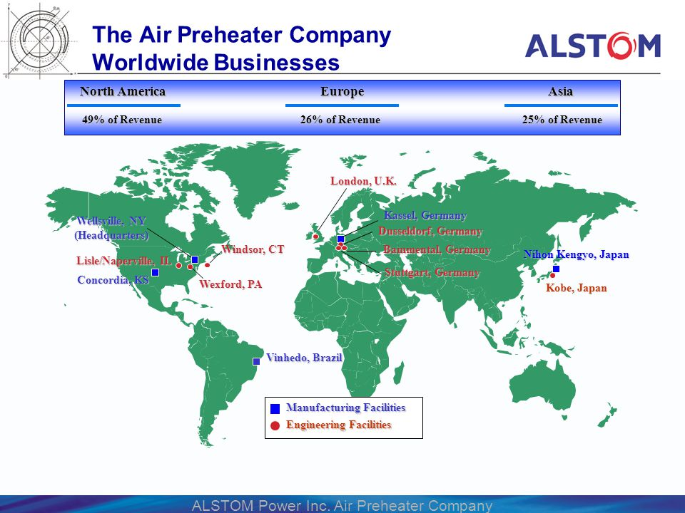 The Air Preheater Company Worldwide Businesses