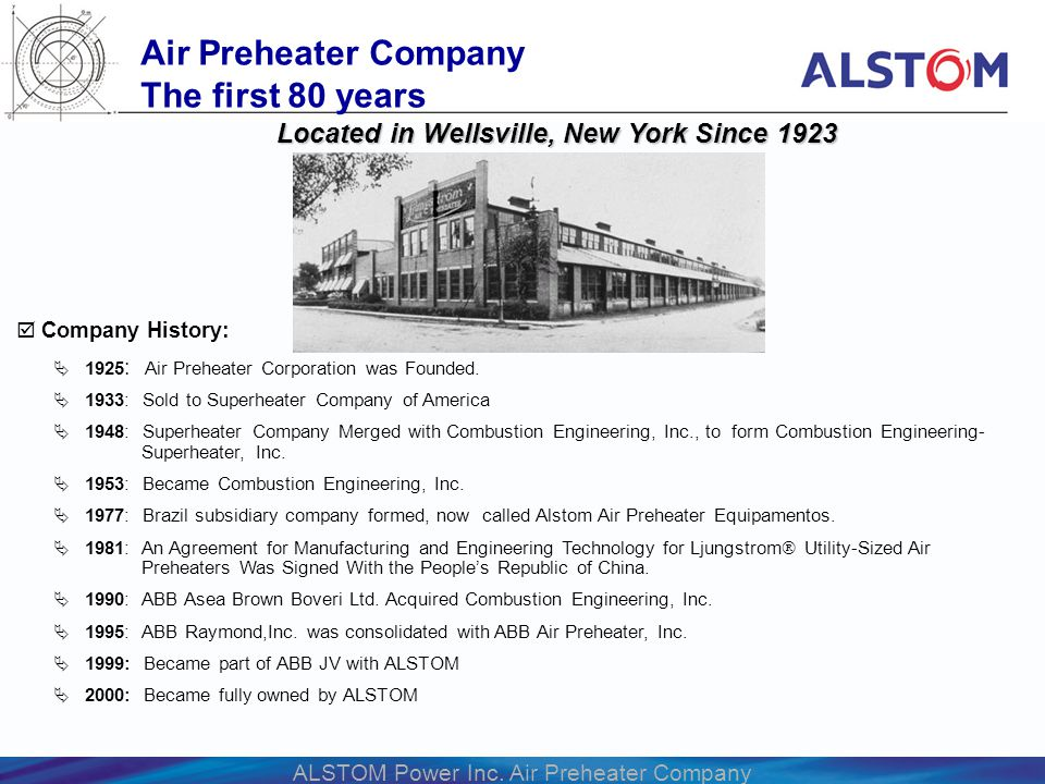 Air Preheater Company The first 80 years