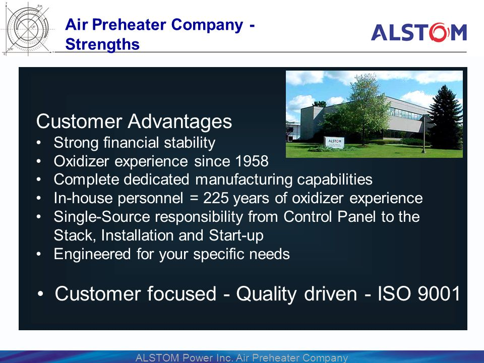Air Preheater Company - Strengths