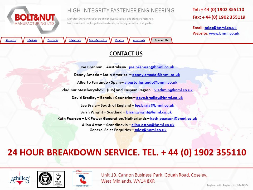 24 HOUR BREAKDOWN SERVICE. TEL (0)