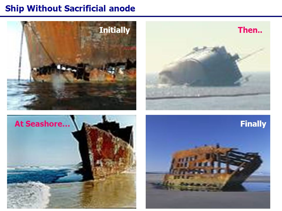 Ship Without Sacrificial anode