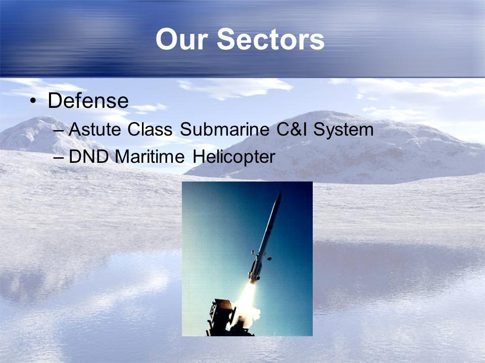 Our Sectors Defense Astute Class Submarine C&I System