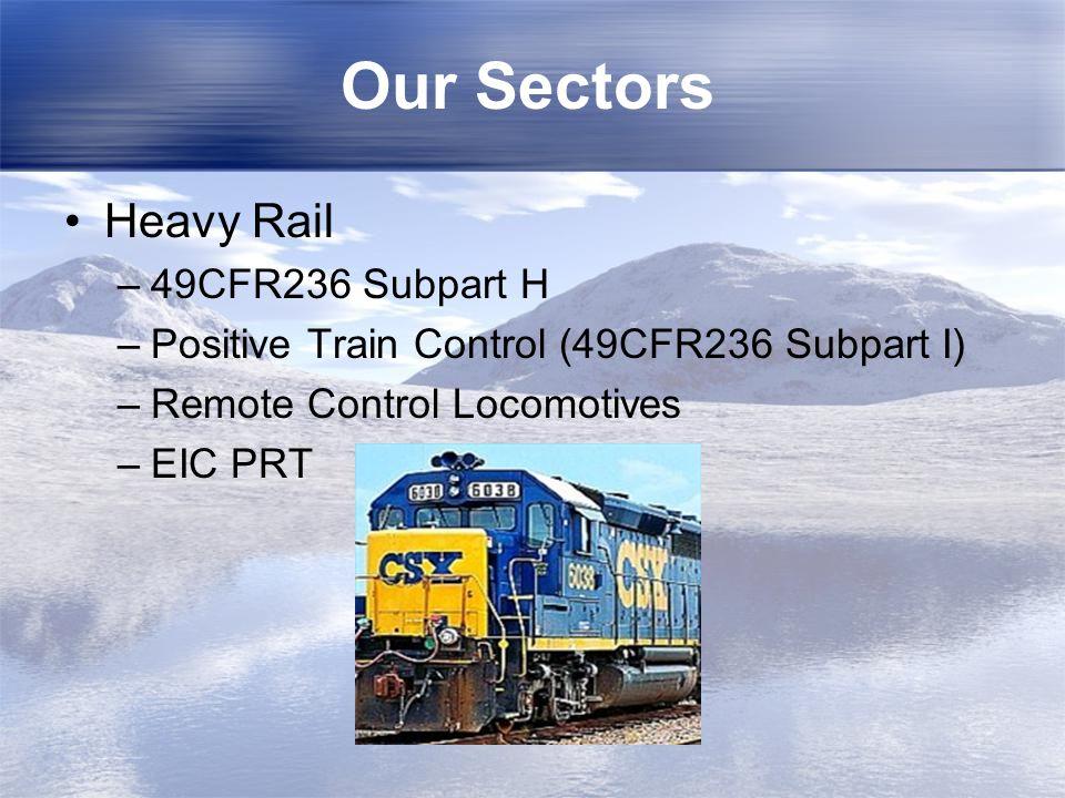 Our Sectors Heavy Rail 49CFR236 Subpart H