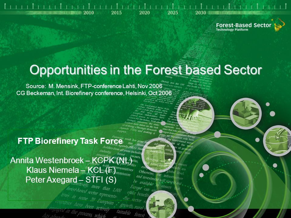 Opportunities in the Forest based Sector