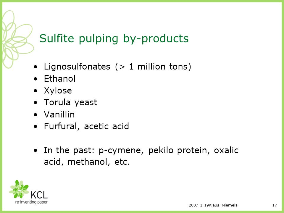 Sulfite pulping by-products