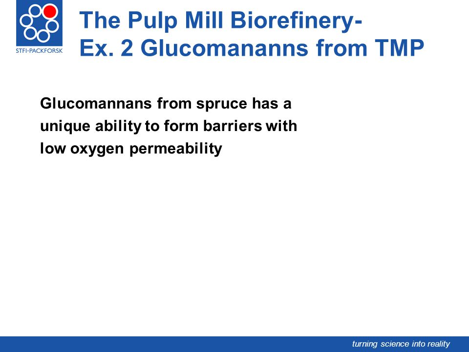 The Pulp Mill Biorefinery- Ex. 2 Glucomananns from TMP