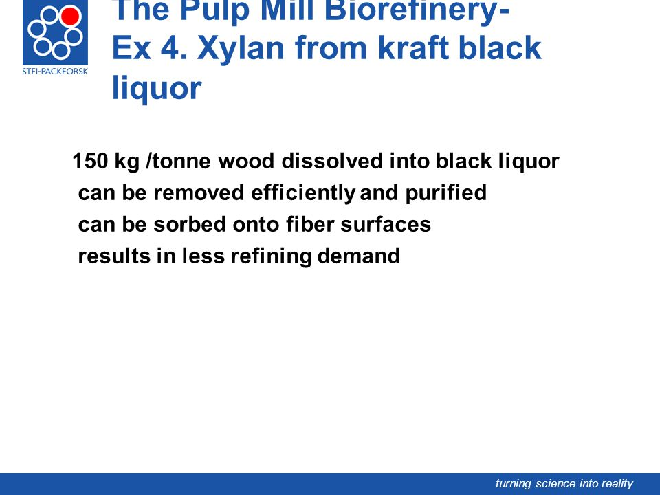 The Pulp Mill Biorefinery- Ex 4. Xylan from kraft black liquor