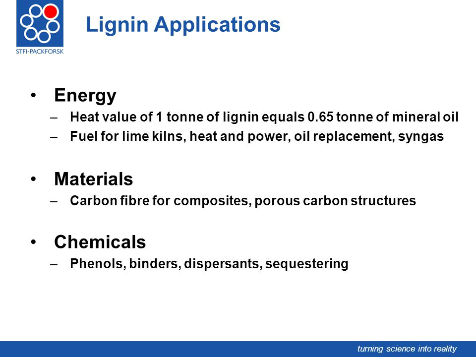 Lignin Applications Energy Materials Chemicals