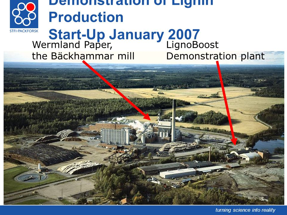 Demonstration of Lignin Production Start-Up January 2007