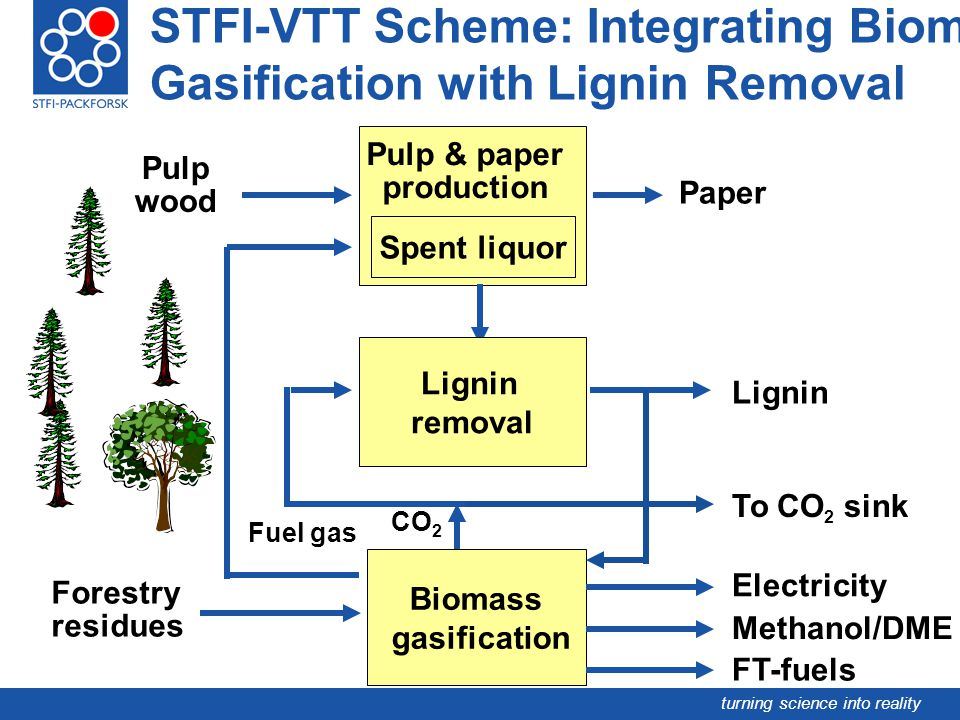 STFI-VTT Scheme: Integrating Biomass Gasification with Lignin Removal
