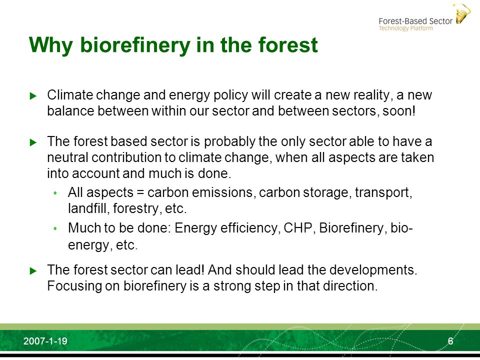 Why biorefinery in the forest