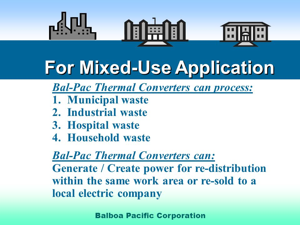 For Mixed-Use Application