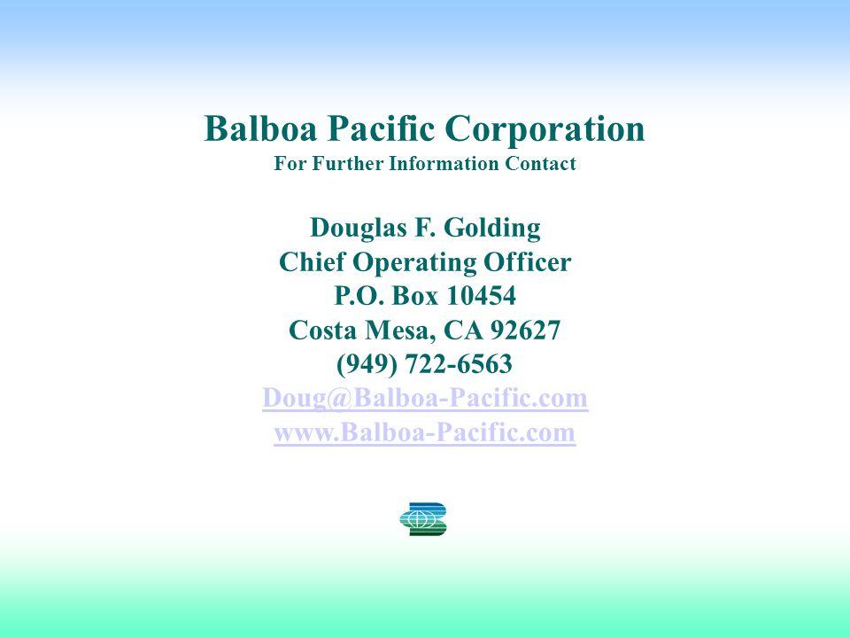 Balboa Pacific Corporation