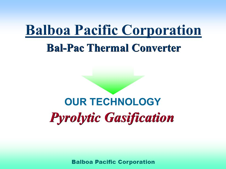 Bal-Pac Thermal Converter Pyrolytic Gasification