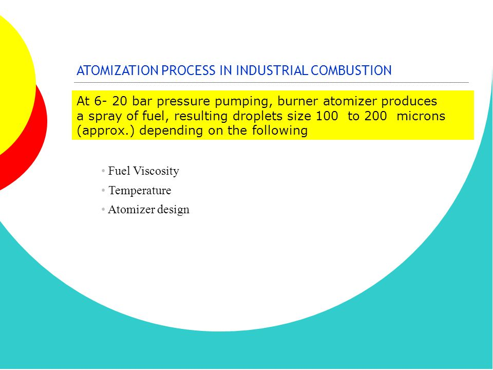 ATOMIZATION PROCESS IN INDUSTRIAL COMBUSTION